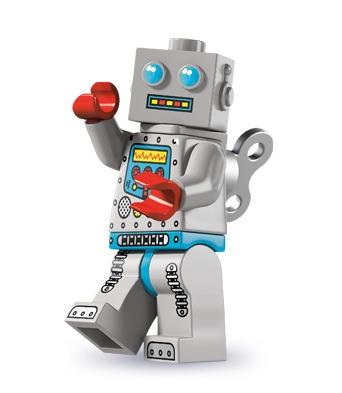 Vi kan godt lide den homage til det klassiske optrækslegetøj, som denne Lego-robot udgør. På samme tid er der noget lidt skræmmende over robottens udtryk og former, som bringer minder om gamle science fiction-film og tv-serier.