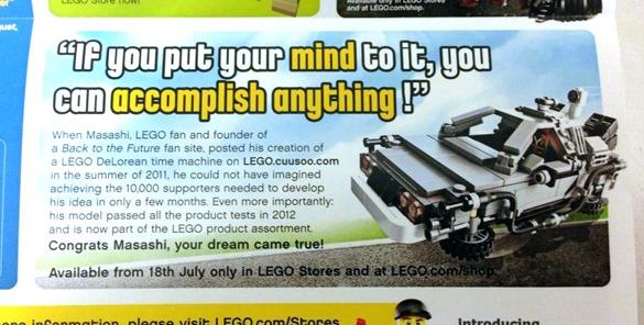 Billedet fra Lego butikkernes nyhedsbrev er fundet på websiden Bricks & Blocks