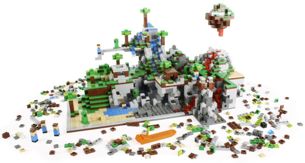 Dette er, hvad der sker, når Legos egne designere bygger seks eksemplarer af det oprindelige Lego Minecraft-sæt sammen.