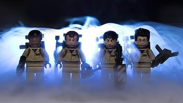 Ghostbusters Winston Zeddemore, Peter Venkman, Ray Stantz og Egon Spengler som Lego minifigurer