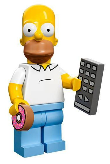 Lego simpsons minifigurer afsl ret skal vi lege nuskal - Homer simpson nu ...