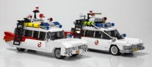 Brent Wallers bud på Ecto-1 ses forrest sammen med den endelige version af den ikoniske filmbil.