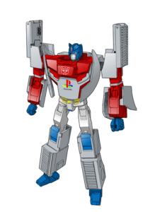 Optimus Prime med indbygget PlayStation