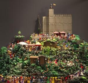 Nogle Playmobil-fans ynder at bygge store dioramaer – her det historiske optog 'Hambacher Fest', som var en del af Playmobils 40 års jubilæumsudstilling på det historiske museum i Speyer tidligere i år.