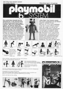 For at være sikre på at børn og forældre forstod konceptet bag Playmobil, blev der de første år fremstillet udførlige vejledninger til figurerne.