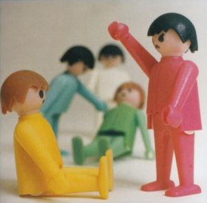 Hans Becks første Playmobil-prototyper, hvor han stadig overvejede flere ansigtsudtryk.
