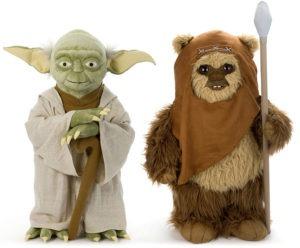 Plysudgaver af Yoda og Wicket the Ewok i fuld størrelse (2)
