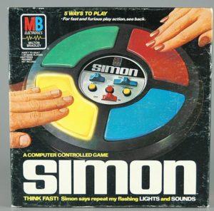 Ralph H. Baers oprindelige Simon-spil fra 1978.