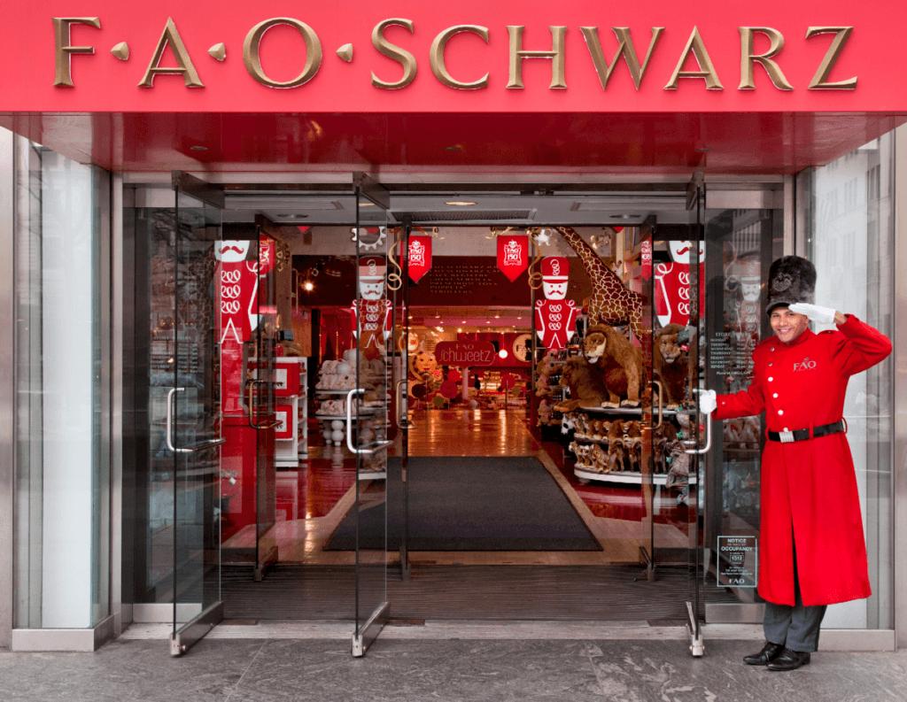 FAO Schwarz lukker