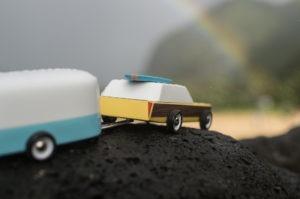 Bil og trailer fra Candylab Toys næste serie af biler, som endnu ikke er lanceret.