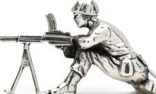 Klassiske soldaterfigurer i sølv (2)