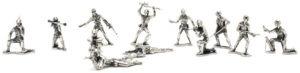 Klassiske soldaterfigurer i sølv (3)