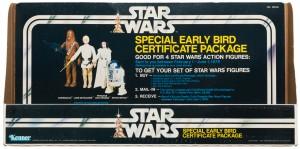 Star Wars early bird certificate package